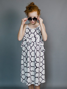 Jersey Squint Dress (Elephant Grey/Lovenet)