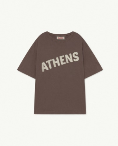 ROOSTER OVERSIZE KIDS T-SHIRT Deep Brown