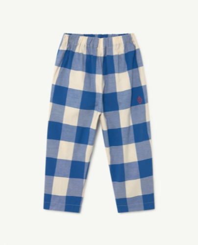 ELEPHANT KIDS TROUSERS Blue Vichy Logo